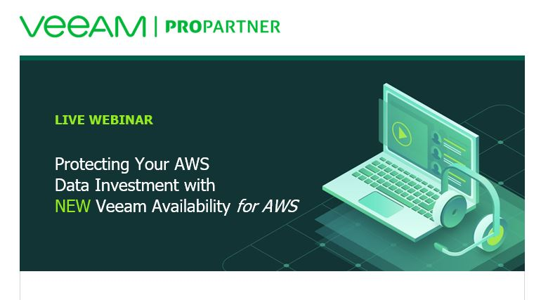 Join us for a webinar on Veeam Availability for AWS