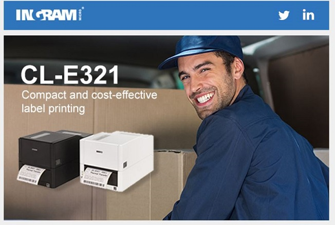 NEW Citizen CL-E321. Fast, simple and stylish label printing