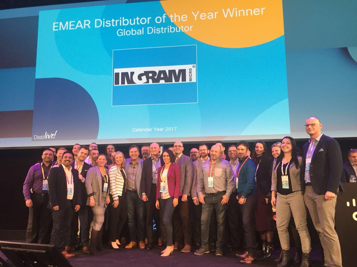 Cisco EMEAR Disti of the year award goes to Ingram Micro EMEA!